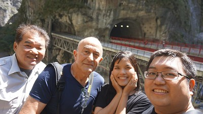 With our driver and tour guide Lyndon Yang, Yen, and Evane