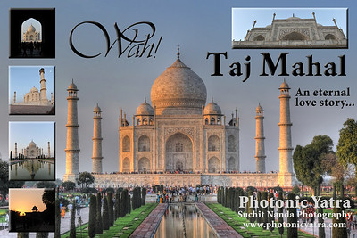 The Taj Mahal (Hindi: ताज महल  Persian/Urdu: تاج محل) is considered the finest example of Mughal architecture, a style that combines elements from Islamic, Indian and Persian architectural styles. But over and aove that the Taj is an icon of eternal love. A love story between the Mughal Emperor Shah Jahan and his begam (wife) Mumtaz Mahal. The principal mausoleum was completed in 1648 and the surrounding buildings and garden were finished five years later. Taj Mahal is located in Agra, Uttar Pradesh state (UP), North India.