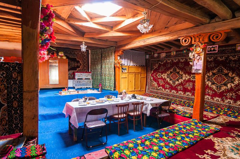 Traditional Pamiri House. Wakhan Valley. Tajikistan