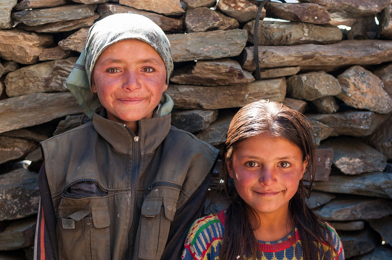 Shepherds grandaughters. Bartang Valley. Tajikistan