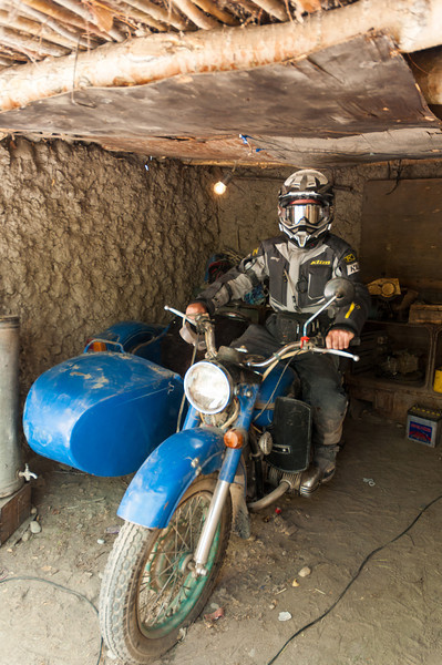 Ural motorcycle outfit. Langar, Wakhan Valley