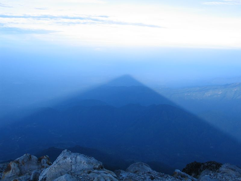 The shadow of Tajumulco.  This was really fun.