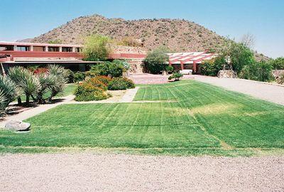 5/18/00 Taliesen West, Scottsdale, AZ Front lawn