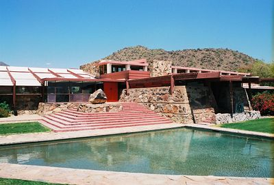 5/18/00 Taliesen West, Scottsdale, AZ Front reflecting pond