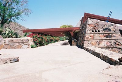 5/18/00 Taliesen West, Scottsdale, AZ Main entrance to compond