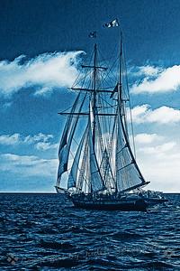 Sailing in Blues - Judith Sparhawk
