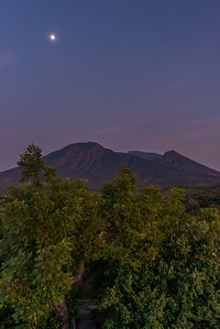Mount Baluran Under the Moonlight