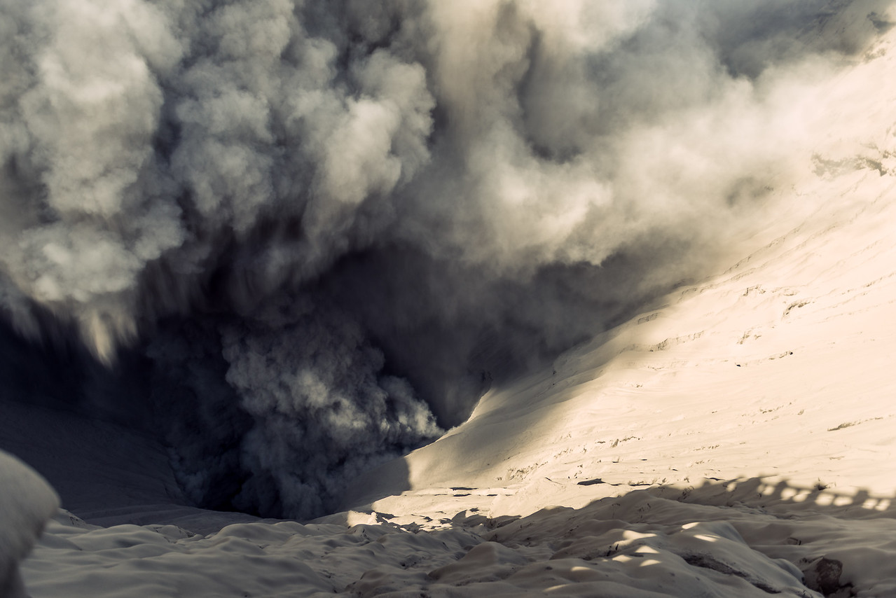 Mount Bromo's Ash Machine