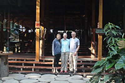 Aunika, Mitzi & Sheldon at Refugio Amazonas.