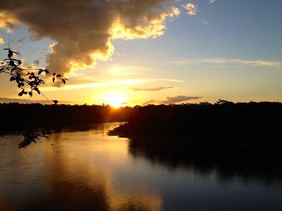 Sunset on the Tambopata