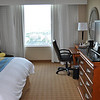 My room on the Top Floor of the Tampa Marriott Waterside.