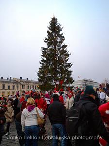 Joulukuusi - Christmas tree.Tampereen Joulunavaus - Christmas Season Opening  at Tampere 2009