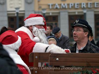 Pukki & Kuski - Santa & Chauffor. Tampereen Joulunavaus - Christmas Season Opening  at Tampere 2009