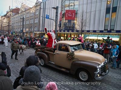 Santa & GMC. Tampereen Joulunavaus - Christmas Season Opening  at Tampere 2009