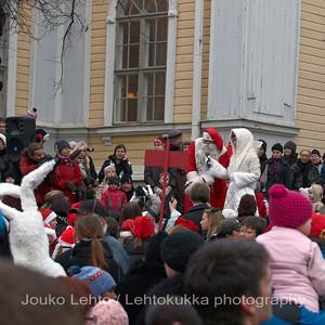 Puhe - The speech. Tampereen Joulunavaus - Christmas Season Opening  at Tampere 2009