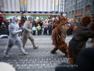 Pupuja ja muita otuksia - Bunnies and other creatures. Tampereen Joulunavaus - Christmas Season Opening  at Tampere 2009