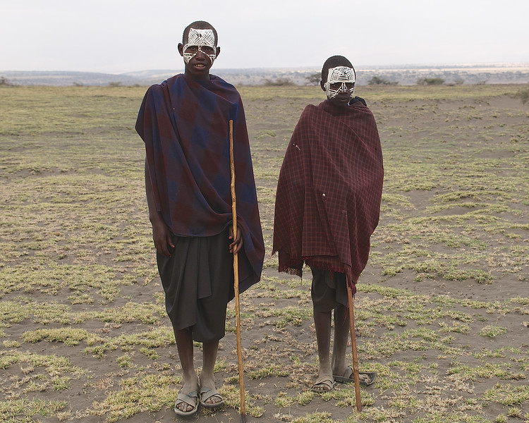 "Masai Boys on their ""walk about"" After Circucision Ceremony, Tanzania"