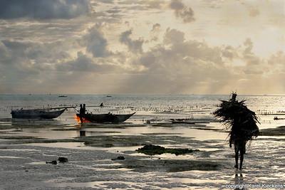 T 03_38 Oostkust Zanzibar Schoonbranden boten
