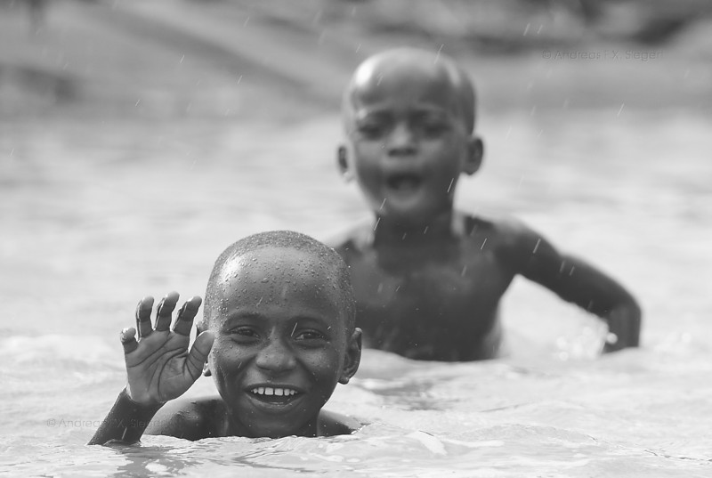 Kids having fun in the Rufiji river