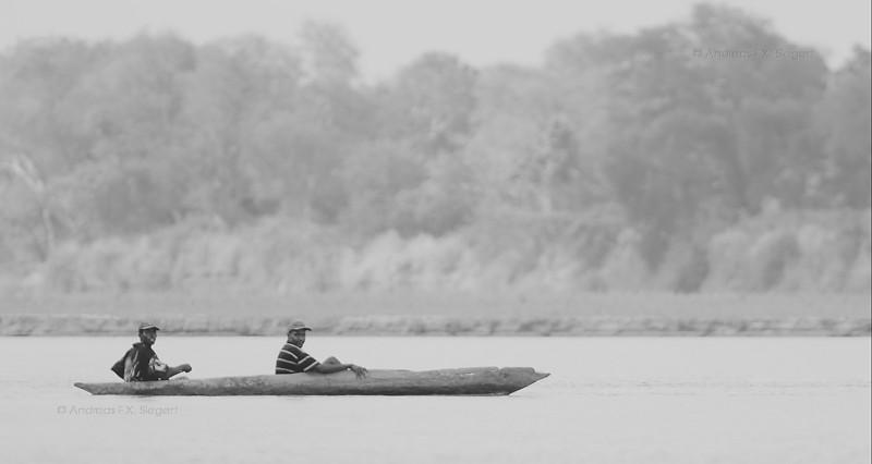 Fishermen on the Rufiji river