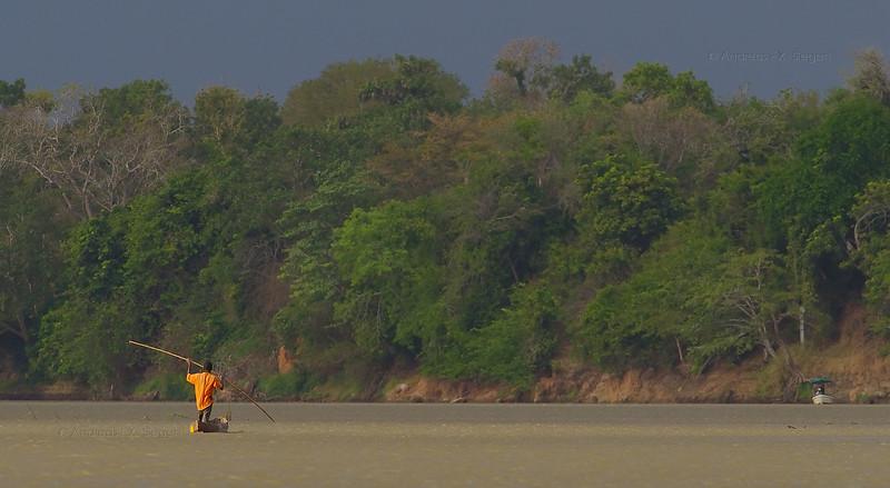 Fisherman on the rufiji river