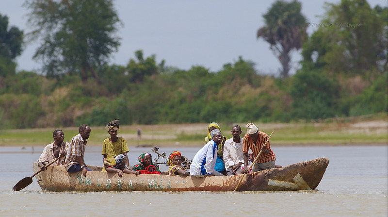 Mloka village ferry crossing the Rufiji river