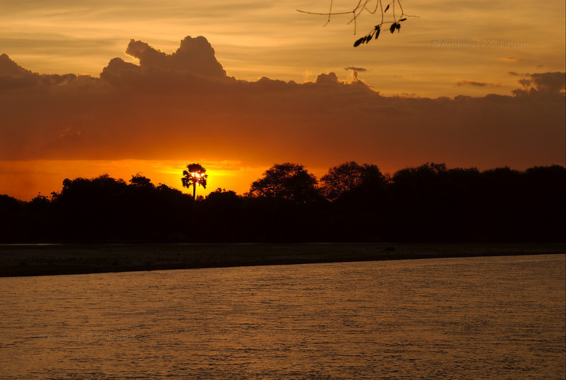 Mbega camp sunset