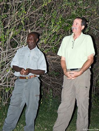 Joseph (l), our safari guide, and David, our Smithsonian guide (r). (Photo courtesy of Jim Furner)