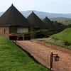 Our lodge overlooking Ngorongoro Crater. At night guides with sticks accompanied you to your room to protect you from leopards and cape buffalo. A cape buffalo kindly knocked his horn on my sunroom window one night, which I thought sounded like a mighty big moth. (photo courtesy of Dick Norwood)