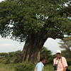Our driver, Joel (l) and our Smithsonian guide, David (r) in front of a baobab tree.