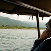 Looking on the delta of a river that descends from the Mahale Mountains into Lake Tanganyika