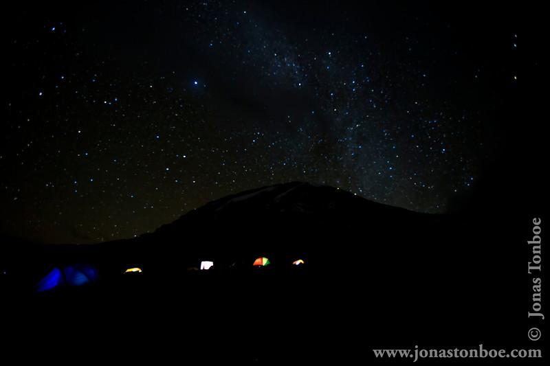 Karanga Camp at 3900 Meters - Mt. Kilimanjaro and Tents
