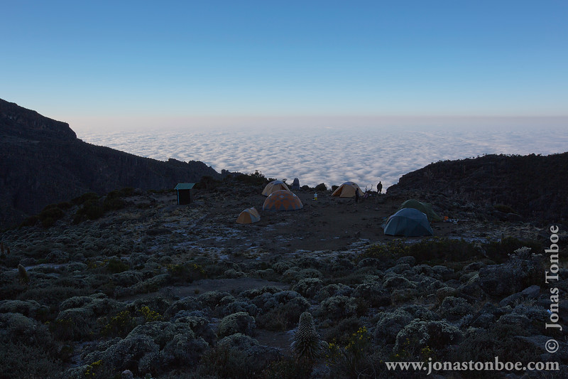 Barranco Camp at 3950 Meters