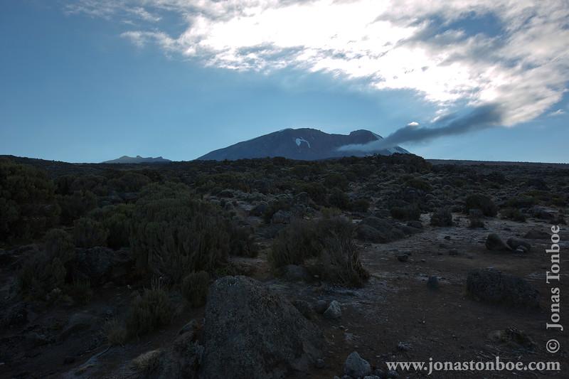 Shira 2 Camp at 3840 Meters - Mt. Kilimanjaro Summit