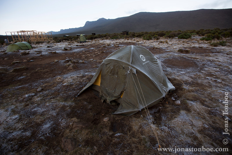 Shira 1 Camp at 3500 Meters - Morning Frost