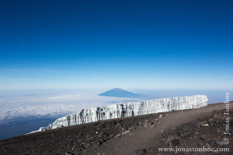 Glacier and  Mt. Meru