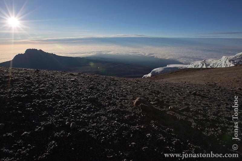 Sunrise Over Mt. Mawenzi and Glacier