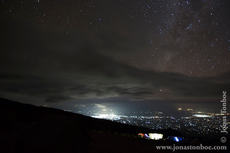 Karanga Camp at 3900 Meters - Moshi City Lights