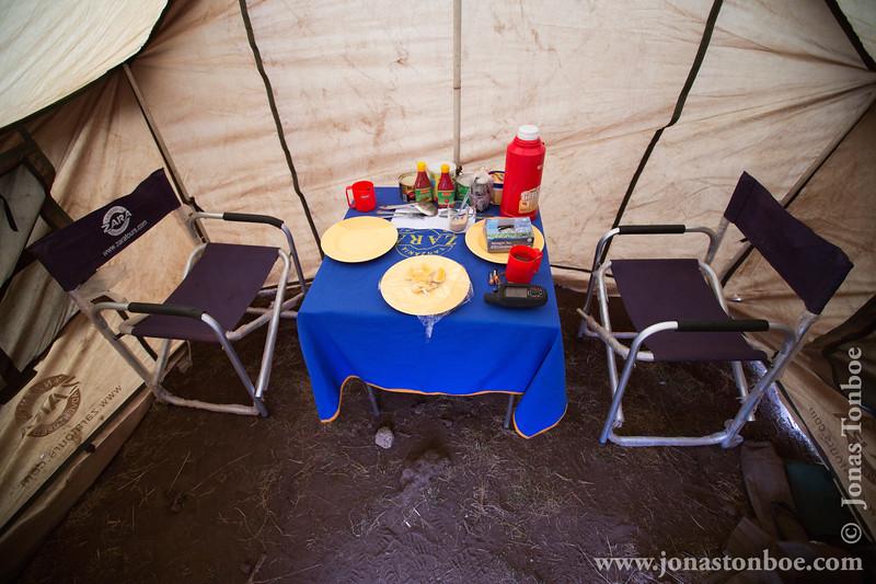 Shira 1 Camp at 3500 Meters - Dinner Tent