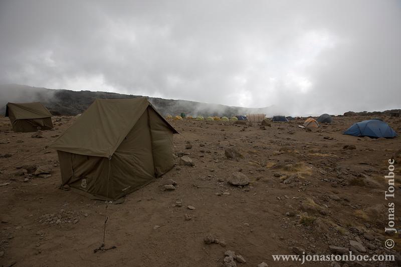 Karanga Camp at 3900 Meters - Dinner Tent