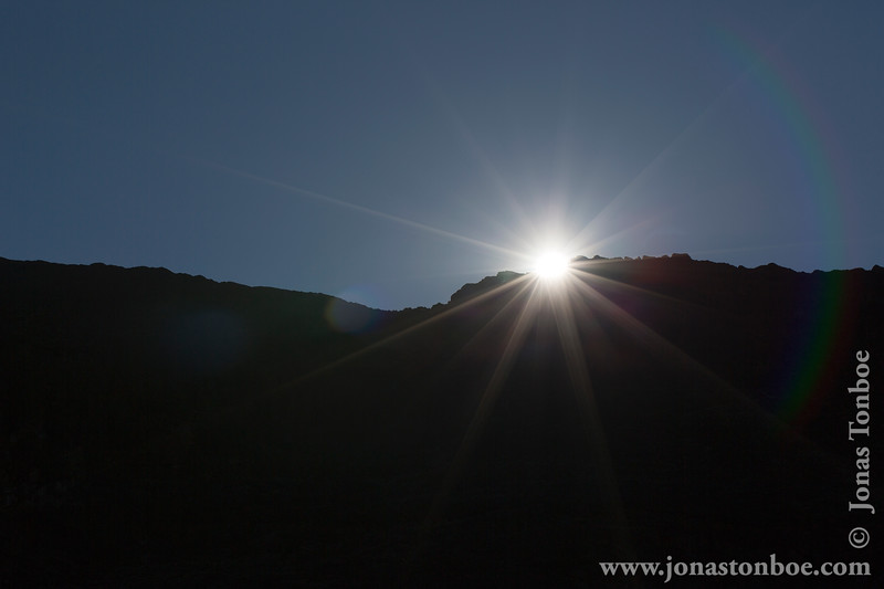 Barranco Camp at 3950 Meters - Sunrise Over Barranco Valley