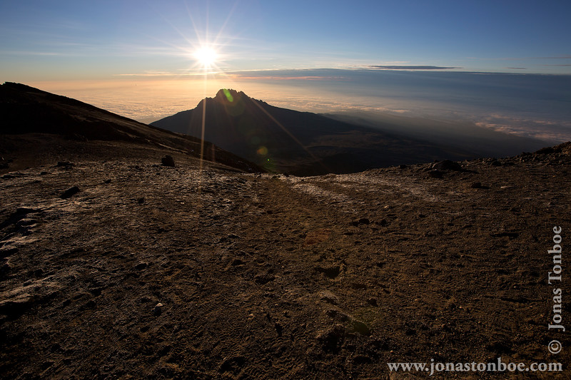 Stella Point at 5685 Meters - Sunrise over Mt. Mawenzi