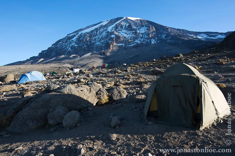 Karanga Camp at 3900 Meters - My Tent and Mt. Kilimanjaro Summit