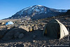 Karanga Camp at 3900 Meters - My Tent and Mt. Kilimanjaro Summit