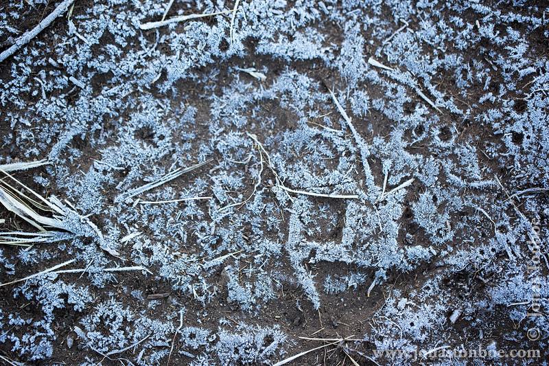 Barranco Camp at 3950 Meters - Frozen Boot Print