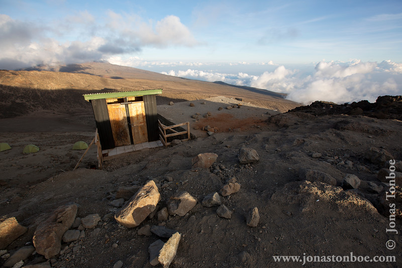Barafu Camp at 4550 Meters - Toilets