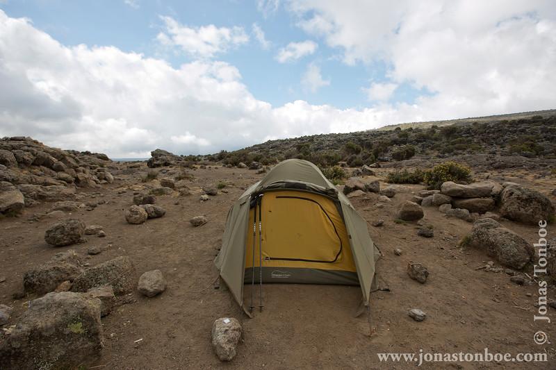 Shira 2 Camp at 3840 Meters - My Tent