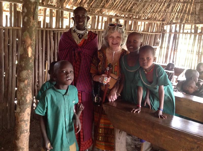 The school in the Maasai village. Photo by Eva J Yeo