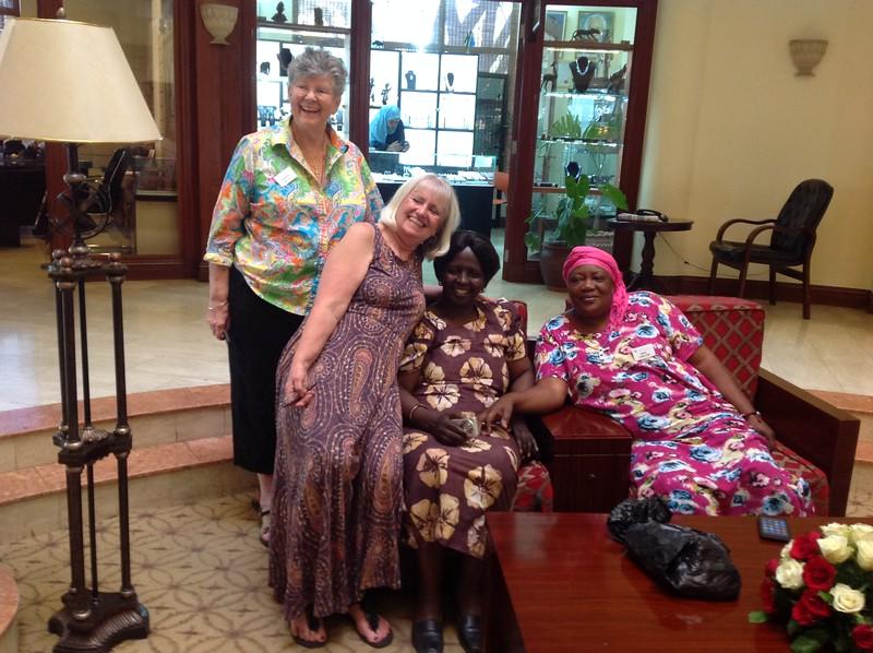 Barbara Miller, Naomi Paasch, Mary Laizer and Sara Lomayani. Photo by Eva J Yeo.