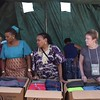 Preparing for Quilt, personal and school kit distribution. photo by Shelby Morgan
